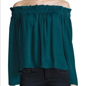 Lucca Off The Shoulder Emerald Blouse